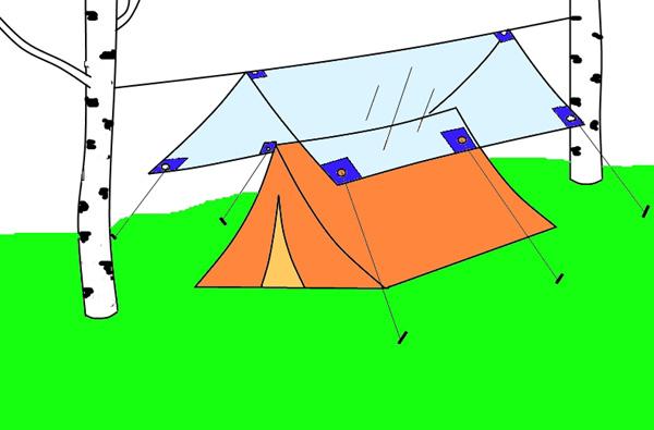 Из чего сделать палатку своими руками